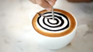 Presenting a cups of coffee mocha.