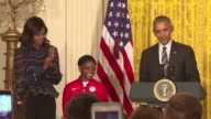 US President Barack Obama and First Lady Michelle Obama welcome the 2016 US Olympic and Paralympic teams to the White House