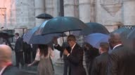 US president Barack Obama and his family kicked off their visit to Cuba with a rainy walk in Havanas Old Town with tourists and Cubans waiting...