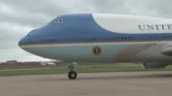 President Barack Obama arrived at Tinker Air Force Base Oklahoma aboard Air Force One to get a first hand view of the destruction caused by the...