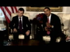 President Barack Obama comments on earlier talks with President Dmitry Medvedev during press meeting 24 September 2009