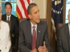 US President Barack Obama comments on evironmental issues raised during cabinet meeting