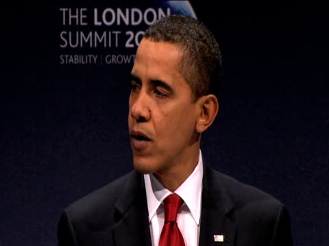 President Barack Obama comments on meetings with fellow G20 leaders during press conference 2 April 2009