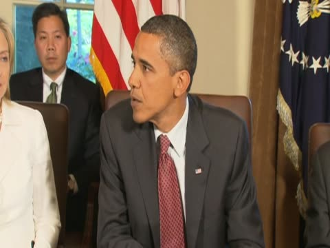 US President Barack Obama comments on the future of General McChrystal sacked during cabinet meeting