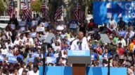 S President Barack Obama gives a speech during a electoral campaign for Democratic Party's Presidential nominee Hillary Clinton in front of the art...