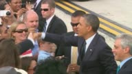 WGN President Barack Obama Greets People on May 29 2013 in Chicago Illinois