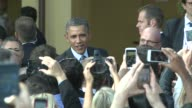 US President Barack Obama on the creative economy at Dreamworks Studio includes soundbite my ears were the inspiration for Shrek Obama on Economy...