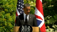 Day 2 Obama and David Cameron press conference Barack Obama speech SOT Thank you Mr Prime Minister I am very pleased to be back in the United Kingdom...