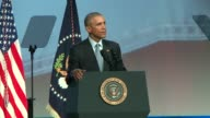 WGN President Barack Obama Talks About Gun Control at the 122nd Annual International Association of Chiefs of Police at McCormick Place on October 27...