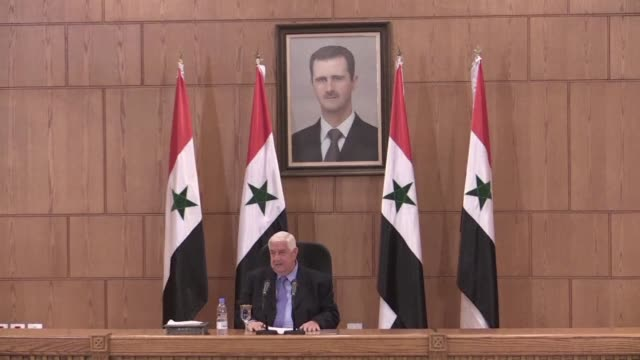 President Bashar al Assads ouster remains a red line for the Syrian government the war wracked countrys foreign minister said Saturday ahead of...