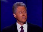 President Bill Clinton accepts his nomination at the Democratic National Convention gives speech and says 'I still believe in a place called hope' /...