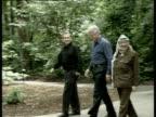 President Bill Clinton Israeli Prime Minister Ehud Barak and Palestinian leader Yasser Arafat at Camp David Maryland July 2000