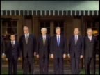 President Clinton greets his fellow world leaders at the G8 Summit in Denver