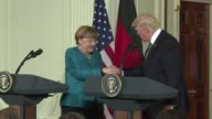 US President Donald Trump says he backs the NATO alliance but with visiting German Chancellor Angela Merkel at his side stresses that some member...