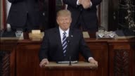 President Donald Trump tells a Joint Session of Congress thathe has created atask force to reduce violent crime and his efforts to fight illegal...
