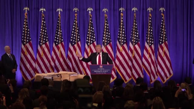 US President Elect Donald Trump discussed various topics at his first press conference since his election in November including his plans to let his...