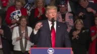 US president elect Donald Trump thank you tour speaking in Hershey Pennsylvania