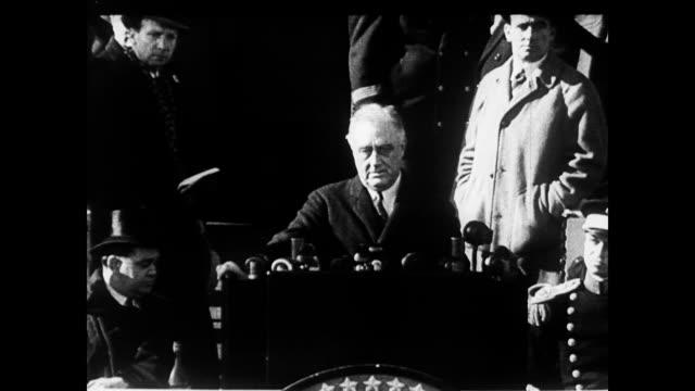 President Franklin Roosevelt giving a speech President FDR speaking on January 01 1935