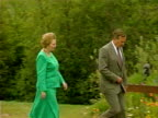 US President George Bush and British Prime Minister Margaret Thatcher at joint press conference