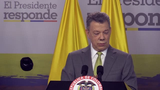 President Juan Manuel Santos says that Colombia wants a united Spain speaking after Catalan lawmakers voted Friday to declare independence from Spain...