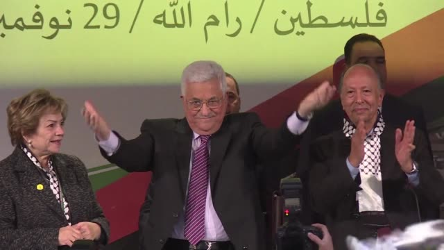 President Mahmud Abbas says he remains committed to dialogue toward peace as he addresses his Fatah party's first congress since 2009 while facing...