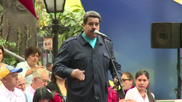 President Nicolas Maduro took a swing at the Venezuelan opposition in his speech commemorating the late Hugo Chavez thanking a crowd of supporters...