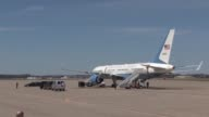 President Obama and Vice President Biden land at the Pennsylvania Air National Guard 171st Air Refueling Wing near Pittsburgh Pennsylvania April 16...