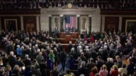 President Obama ends his State of the Union address with standard close to applause of Congress shakes hands with Speaker Boehner Vice President