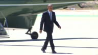 President Obama Exits Marine One and Boards Air Force One