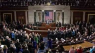 President Obama stirs members of Congress during State of the Union address in January 2015 with rhetoric on 50th year since the historic law was...