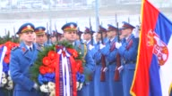 President of Serbia Tomislav Nikolic laid a wreath at the Memorial of genocide victims in World War II during a commemoration ceremony organized for...