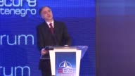 President of Slovenia Borut Pahor and President of Montenegro Filip Vujanovic a speech during the second day of Seventh 'To Be Secure' Forum in Budva...