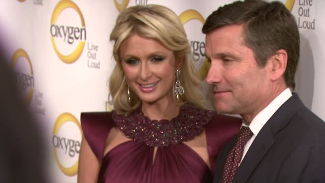 President Oxygen Media Jason Klarman Paris Hilton CEO NBCUniversal Steve Burke and Chairman NBCUniversal Entertainment Digital Networks and...