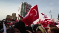 President Recep Tayyip Erdogan at a rally in Anatolia Turkey