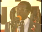 President Robert Mugabe addresses campaign rally 2000s
