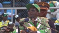 President Robert Mugabe hits out at foreign powers as he hold his final rally ahead of Wednesdays presidential election CLEAN Mugabe holds final...