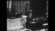 / President Roosevelt speaks in front of Congress President Roosevelt speaking before Congress on January 01 1940 in Washington DC