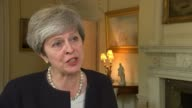 President Trump issues warning as North Korea fires missile over Japan ENGLAND London Downing Street Theresa May MP interview SOT These are illegal...