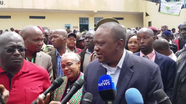 President Uhuru Kenyatta casts his ballot in a repeat presidential election in Kenya that is mired in uncertainty as opposition leader Raila Odinga...