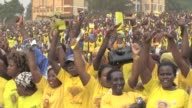President Yoweri Museveni holds a rally in the Ugandan capital Kampala ahead of elections on February 18th