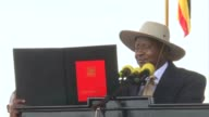 President Yoweri Museveni of Uganda embarks on a fourth decade in power as he is sworn into office for a fifth consecutive term