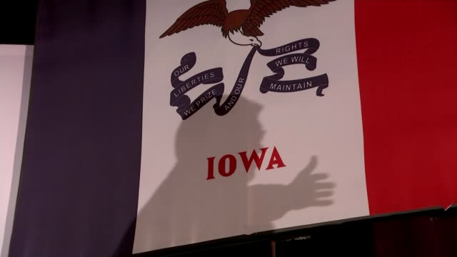Presidential candidate Donald Trump refuses to attend last Republican debate in Iowa USA Iowa INT Various shots of people attending rally for Ted...