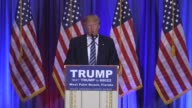US presidential candidate Donald Trump talks about his large hands in response to an allegation by GOP rival US Senator Marco Rubio that he has small...