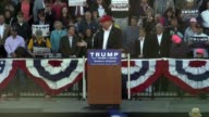 US presidential candidate Donald Trump talks about Marco Rubio calling him little ahead of the Super Tuesday primaries