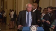 Presidential candidate Senator Bernie Sanders tells reporters he supports a nuclear deal with Iran then just announced