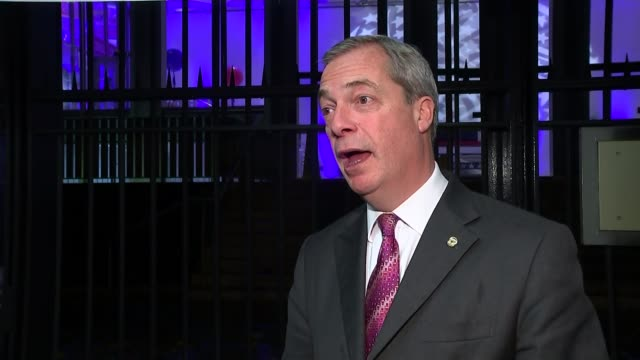 Trump victory world response ENGLAND EXT / NIGHT Nigel Farage MEP interview SOT this is the most powerful man in the world and he's about to change...