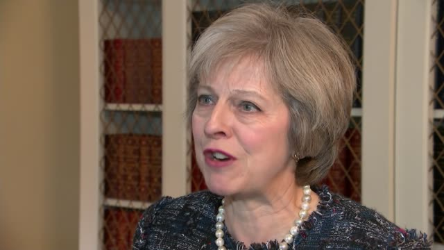 Trump victory world response ENGLAND London INT Theresa May MP interview SOT [is he a fit person to hold this office and will you be able to work...