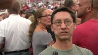 vox pops Trump supporters at rally Vox pops Donald Trump supporters