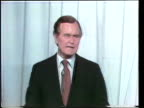 Presidential primary debate sponsored by the League of Women Voters / Howard K Smith asks Republican Presidential candidates George Bush Ronald...