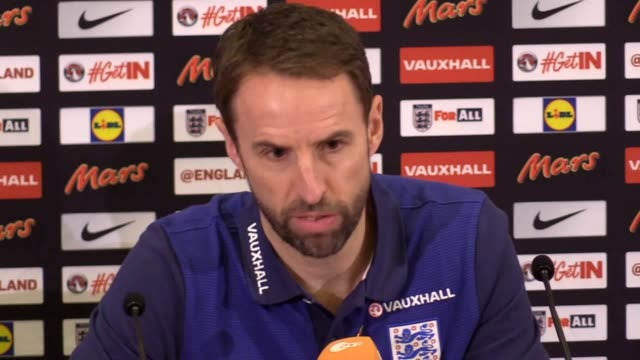 Press conference at St George's Park with England manager Gareth Southgate and defender John Stones ahead of the team's friendly against Germany...